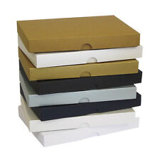 """Pearlescent 5""""x7"""" Greeting Card Boxes, Gift, Wedding. Choose Colour & Quantity"""