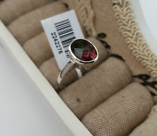 Beautiful Tourmaline Ring in Platinum/14k Gold Overlay Sterling Silver