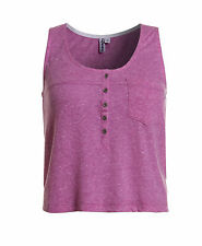 New Womens Superdry Factory Second Cut Pocket Tank Top Purple Nep