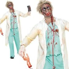 Zombie Doctor Mens Halloween Fancy Dress Costume S-L