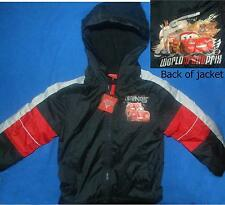 Disney Cars Lightning McQueen Hooded Jacket Size 4-5 XS 6-7 Small  Light Lined