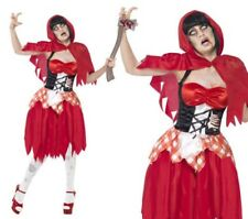 Little Red Riding Hood Halloween Ladies Fancy Dress Costume Sizes 8-18