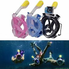 Upgraded New Full Face Snorkeling Snorkel Mask Diving Goggles With Breather Pipe