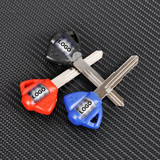 New Blue/Black/Red Blank blade uncut motorcycle key fit for SUZUKI TL1000 GSR400
