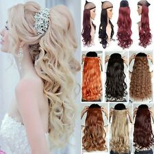 Hot 100% Natural 3/4Full Head Clip In On Hair Extensions Curly Straight Hair To2