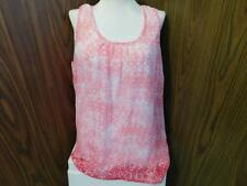 Oh Baby by Motherhood maternity layered tank top white/pink sz L   NWT RV$36