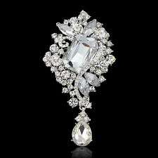 5/10/20 PCS Wholesale Hot Vintage Clear Crystal Women Wedding Brooches Pin Decor