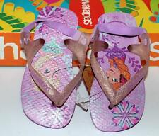 HAVAIANAS Genuine BNWT Baby THONGS FLIP FLOPS FROZEN Lilac Logo Surf Back Strap