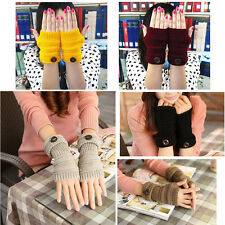 Women Long Fingerless Gloves Mittens for Winter Wrist Arm Hand Warmer Knitted