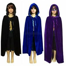 Cute Kids Hooded Velvet Cape Cloak Halloween Fancy Dress Robe Costume  Girl Boy