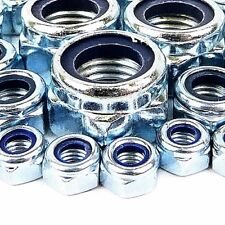 M8 NYLOC LOCK NUT 10MM ZINC PLATED 10 20 50 100 & 200 PACKS AVAILABLE