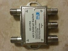 free ship 1pc/lot 4x1 Diseqc Switch, 4 in 1 Diseqc Switch, Diseqc 4x1 Switch