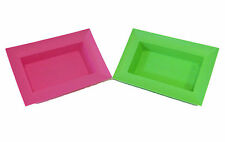 ** (3 pk) OASIS Rectangle Plastic Containers in AppGreen or Pink