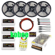 5050 RGB WIFI led strip RGBW+4pcs Controller+4 Zone group remote+Power adapter