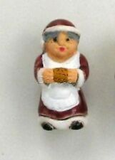Mrs. Santa Claus Ceramic Beads, 29mm, Choice of Lot Size & Price, Hand Painted