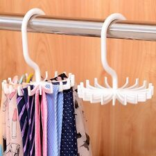 Revolving Men Tie Belt Rack Organizer Scarf Holder Hanger Closet Rod Storage NEW