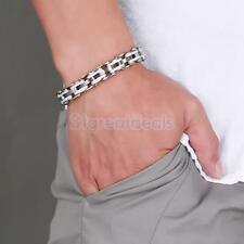 Men Party Jewelry Stainless Steel Bicycle Chain Hand Chain Charm Bangle Bracelet