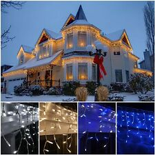 960 LED Icicle Snowing Lights  Xmas Christmas Decoration House Indoor Outdoor