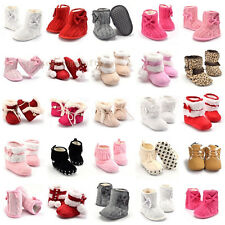 0-18M Baby Kids Infant Boys Girls Warm Snow Boots Fur Winter Toddler Crib Shoes