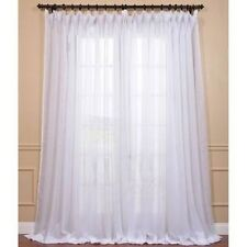 Exclusive Fabrics Signature White Extra Wide Double Layer Sheer Curtain Panel