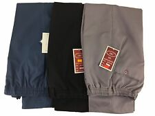 Mens Fully Elasticated Waist Trousers Black Navy Grey Light Blue Beige Green