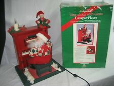 Holiday Creations Animated Sing Along w/ Santa Cassette Player & Box 1995