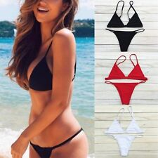 Sexy Women Micro G-String Bikini Set Push-up Bra Triangle Swimsuit Swimwear FO