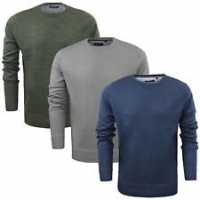 Mens Crew Neck Jumper by Brave Soul 'Parsec' Sweater Knitted Pullover Size M-XXL