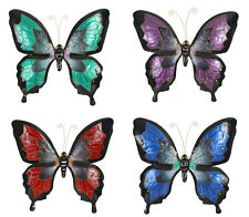 Butterfly Metal Wall Art | Large Metal Sculpture | 65 x 69 cm Indoor Out