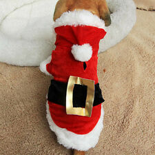 NEW Xmas Hoodie Red Clothes Acrylic Fibers For Small Pets Dog Puppy Xmas Gift