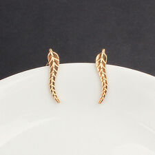 NEW Metal Women's Leaf Shape Earring  Ear Stud Elegant Silver & Gold Elegant