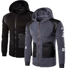 New Fashion Men's Slim Fit Hoodies Warm Hooded Sweatshirt Coat Jacket Outwear