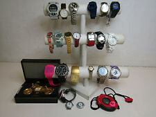 Mens Womens Jewelry Watch Lot with Helbros Bulova Elgin Casio Brands AS IS