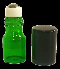 5/8 Dram Green Sample Vial with Stainless Steel Roller (Pack of 5)