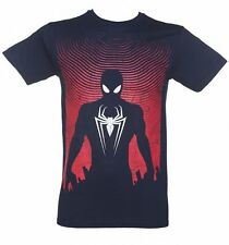 Official Men's Navy Spider-Man Silhouette T-Shirt