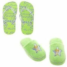 NWT Disney Tinker Bell 2-Pc. Slipper & Flip Flop Set 11/12 Tinkerbell