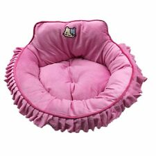 Hollypet soft cat dog bed House Kennel Doggy Puppy Warm Cushion Laced Basket