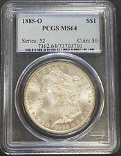1885 O Morgan Dollar PCGS MS64