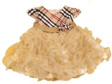 Beautiful Baby Girls Tartan &  Ruffles  Romany Style Occasion Party Dress by KCL