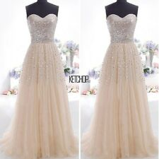 Women Long Dress Sexy Elegant Long Sequins Formal Prom Evening Party Ball Gown