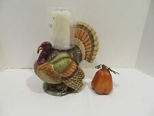 Department 56 Turkey Hurricane Pillar Candle Holder New in Box
