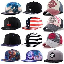 Unisex Fashion Men Womens Snapback Adjustable Baseball Cap Hip Hop Hat Cool Bboy