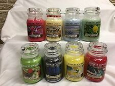 YANKEE CANDLE Large 22 oz Candles U PICK Single Wick SPRING, SUMMER FRESH Scents
