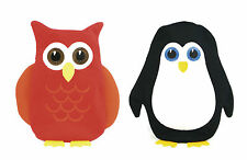 Kids Hot Water Bottle Owl Penguin Soft Knit Cover Warm Cosy Christmas Gift