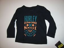 NEW Hurley short sleeve T shirt boys black long sleeve 12m  18m 12 or 18 months