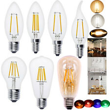 E14/E12/E27 EDISON Retro Filament LED Bulb Candle Light Spot Lamp C35/A60/ST64