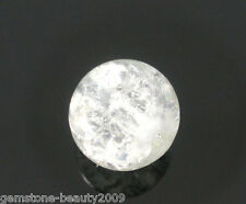 Wholesale HOT! White Crackle Glass Round Beads 8mm Dia.