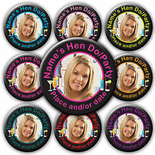 Personalised Photo Birthday Hen Party Do Cocktail Badges Mirror Gift Favours