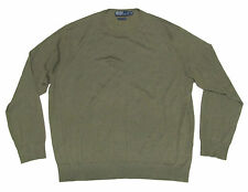 Polo Ralph Lauren Mens Italy Cashmere Olive Green Crewneck Sweater New Size XXL