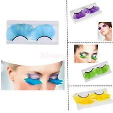 1 Pair Halloween Feather Eyelashes False Fake Eye Lashes for Party Fancy Dress